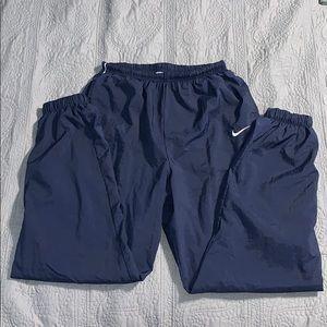 Nike Women's size L Windbreaker joggers Navy